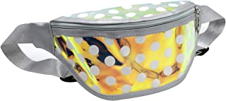 Girls Waist Pack Shiny Holographic Fanny Pack Cute Small Causal Bag with Belt