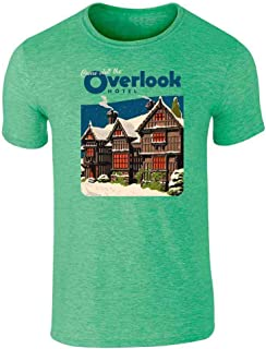 Come Visit The Overlook Hotel Vintage Travel Graphic Tee T-Shirt for Men