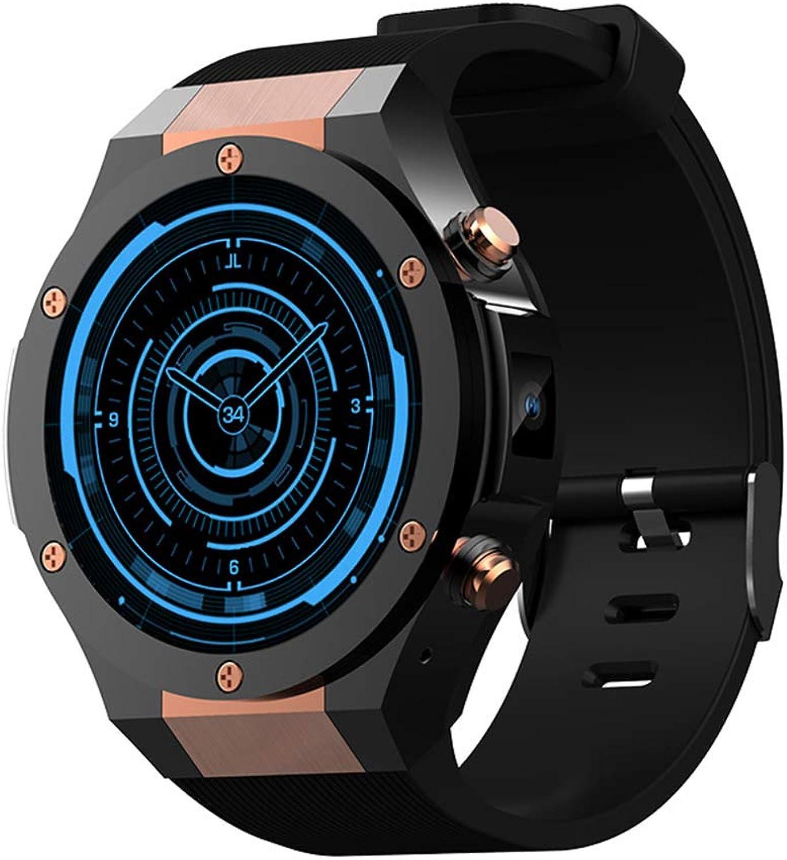 H2 Runde Smart-Uhr 3G Blautooth SIM-Karte Fitness Tracker IP68 Wasserdichte GPS-Herzfrequenzüberwachung - für Android IOS
