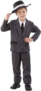Kids Gangster Costume Childrens Black Pinstripe Mafia 1920s Mobster Suit