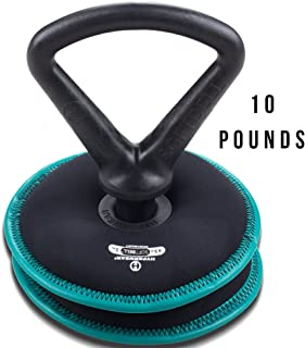 Hyperwear SoftBell Adjustable Kettlebell Weights with Soft Sandbag Hand Weight Plates Sets of 7/10/15/20/25/30lbs Available