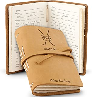 GiftTree Leather Bound Golf Log Journal | Personalized Professional Scorecard Holder | Great Gift for Any Beginner or Advanced Golfer