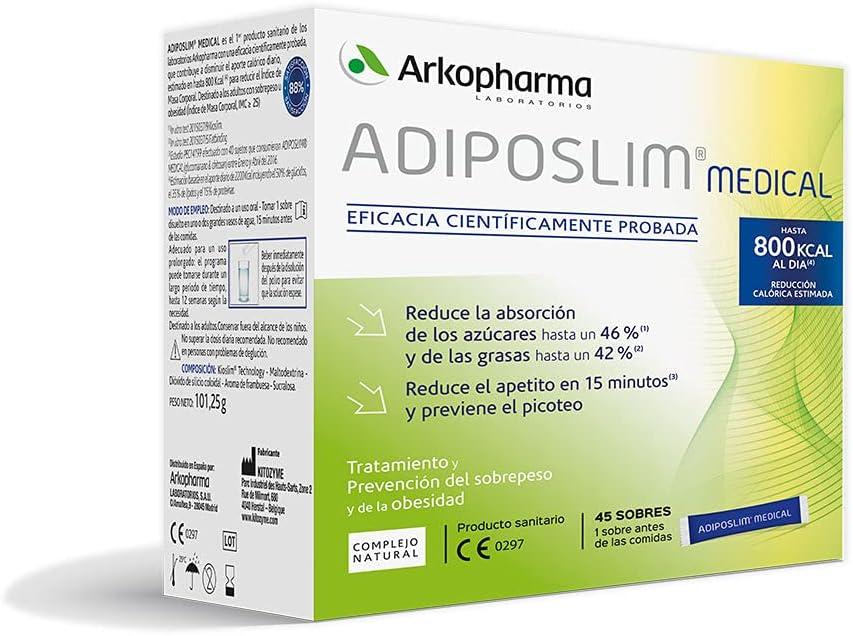 Arkopharma Adiposlim Medical 45 Sobres  Prevención del Sobrepeso  Reduce el Apetito   Saciante   + Asesoramiento Nutricional   Complemento Alimenticio