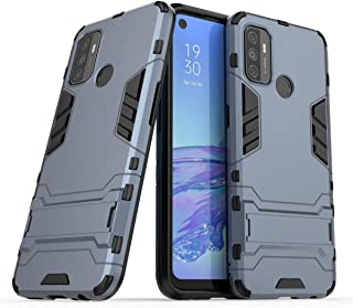 Case for Oppo A53/Oppo A32 Case Rugged TPU/PC Double Layer Hybrid Armor Cover, Anti-Scratch PC Back Panel + Shockproof TPU...