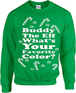 All Things Apparel Buddy The Elf What's Your Favorite Color? Unisex Crew Sweatshirt