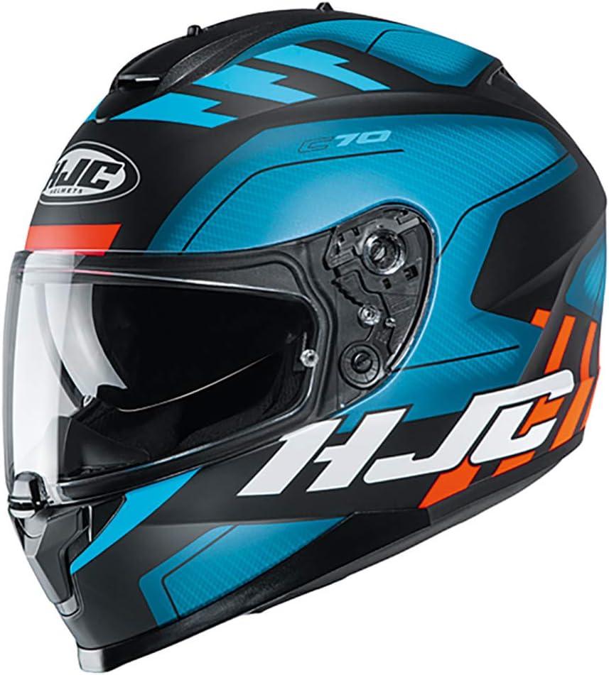 C70kuxl Hjc C70 Koro Motorcycle Helmet Xl Blue Mc2sf Sport Freizeit