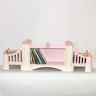 FeliFam Kids bookcase wall Wooden bookshelf Baby book shelf Kids bedroom decor Baby shower gift Tower Bridge (London, UK), (Pink), Collection: History
