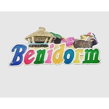 MUYU Magnet Benidorm España 3D imán para Nevera, decoración de hogar y Cocina Adhesivo magnético de polirresina Benidorm España imán para Nevera turista Souvenir Regalo: Amazon.es: Hogar