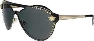 Versace VE2161 125287 Pale Gold VE2161 Pilot Sunglasses Lens Category 3 Size 42