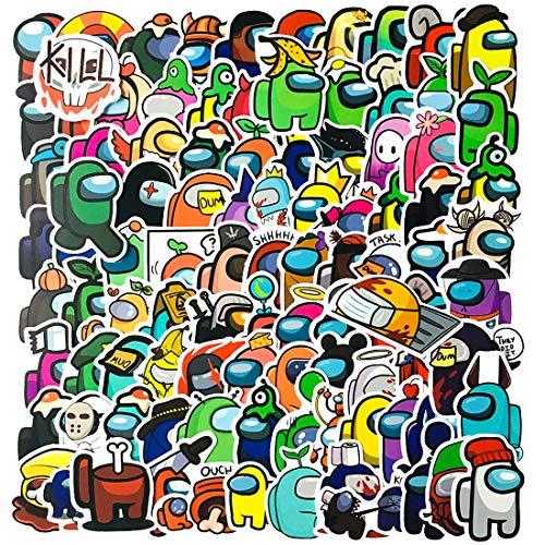 Pegatinas Among Us YUESEN Impermeables Calcomanías Juego 100pcs bonitas pegatinas de moda para Portátiles, Adulto, Adolescente, Computadoras, Hidrofrascos