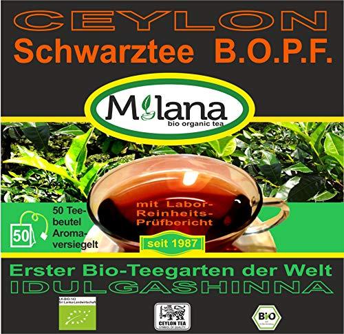 50 Milana CEYLON Premium BIO-SCHWARZTEE Beutel BOPF - Teebeutel, schwarzer Tee, 55 Prozent des Verkaufspreises ist SOZIALE HILFSLEISTUNG - Der Tee, ... der nach Liebe schmeckt...