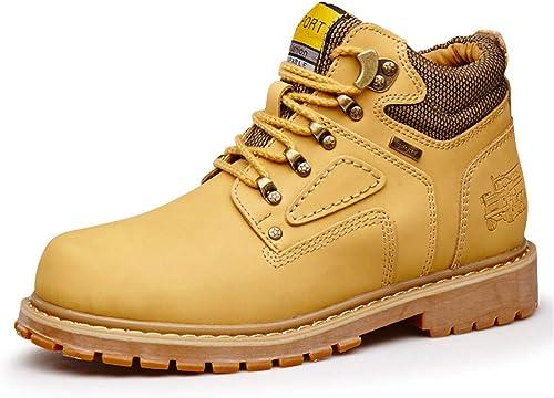 JIALUN-des Chaussures Bottines Simples pour Hommes Décontracté Décontracté Décontracté Round Top Top Haut Coton Chaud Chaussures de Travail Outsole (Conventional en Option) (Couleur   Jaune, Taille   40 EU)  présentant toutes les dernières mode de la rue haute