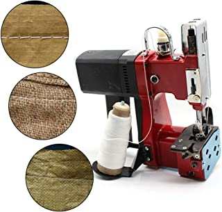 BoTaiDaHong Industrial Sewing Machine 110V 190W High Strength Fast Speed Portable Metal Electric Sewing Machine Electric Handheld Portable Bag Closer Sack Stitching Sewing Machine