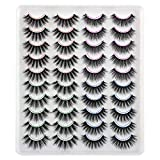 20 Pairs False Lashes Wholesale Bulk 4 Styles 3D Natural Dramatic Long Eyelashes Calphdiar