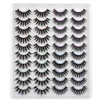 20 Pairs False Lashes Wholesale Bulk 4 Styles 3D Natural Dramatic Long Eyelashes Calphdiar