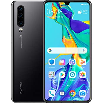 "Huawei P30 128GB+6GB RAM (ELE-L29) 6.1"" LTE Factory Unlocked GSM Smartphone (International Version) (Black)"