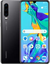 "Huawei P30 128GB+6GB RAM (ELE-L29) 6.1"" LTE Factory Unlocked GSM Smartphone (International Version) (Black)"