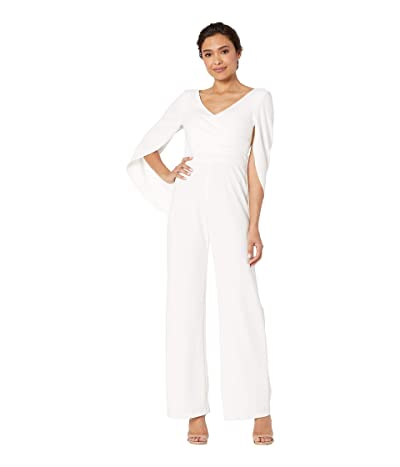 Adrianna Papell Knit Cape Back Jumpsuit (Ivory) Women