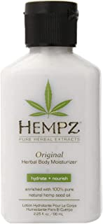 Original, Natural Hemp Seed Oil Body Moisturizer with Shea Butter and Ginseng,- Pure Herbal Skin Lotion for Dryness - Nourishing Vegan Body Cream in Floral and Banana,2.25 Fl Oz (Pack of 1)