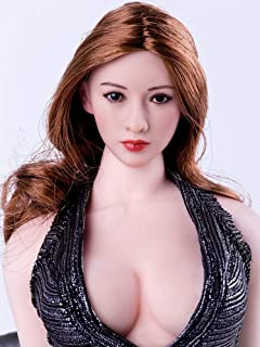 HiPlay 1/6 Scale Female Figure Head Sculpt, Asian Beauty Series, Charming Girl Doll Head for 12