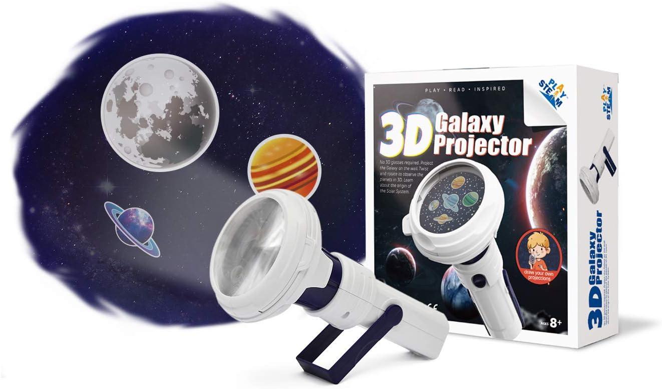PLAYSTEAM Omaha Mall 3D Galaxy Projector Planetarium Solar Portable System Topics on TV