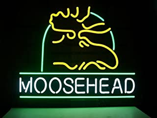 Moosehead Lager Real Glass Beer Bar Pub Store Party Room Wall Window Display Neon Signs 19x15
