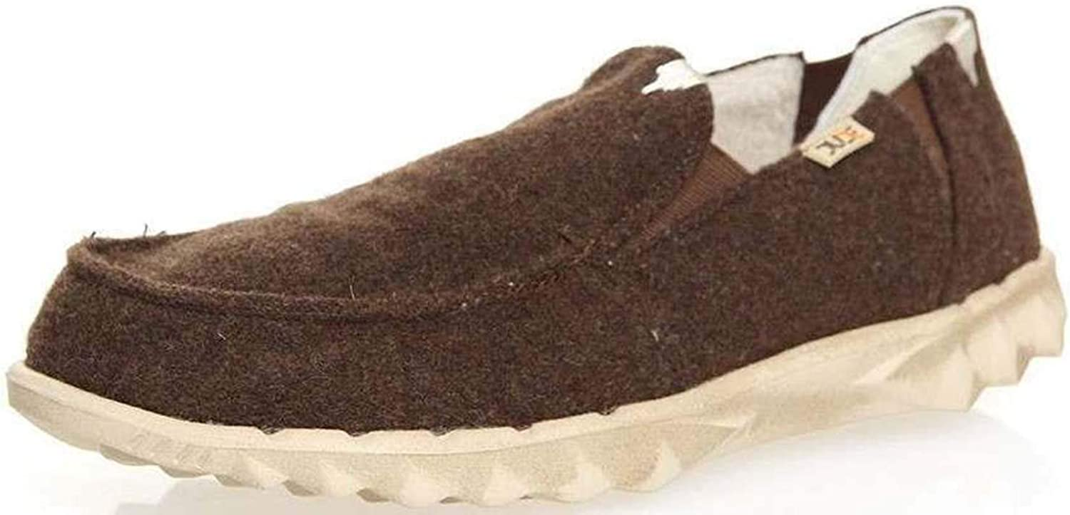 Hey Dude Farty Chalet Chocolate Felt Mens Slipons shoes
