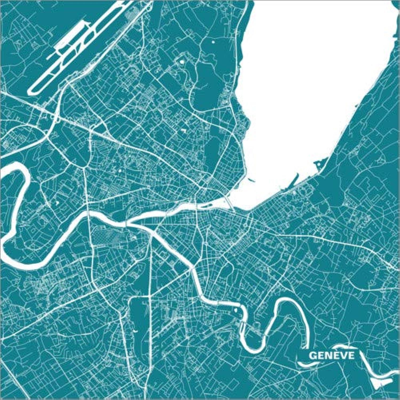comprar nuevo barato Posterlounge Cuadro de metacrilato 60 x x x 60 cm  City Map of Geneva de 44spaces  compra limitada