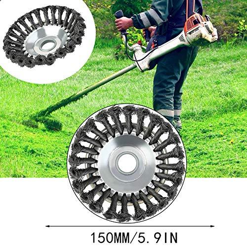 Disco para desbrozadora,Cortadora de césped Dragon Claw Plate con Cepillo de Rueda de Alambre de 6 Pulgadas,Herramientas de Limpieza de malezas para el Cuidado del jardín