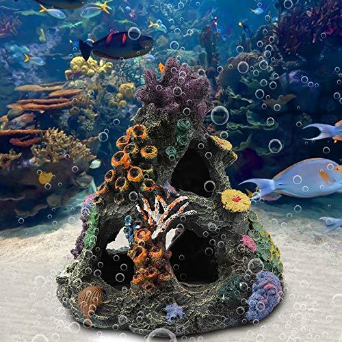 Aquarium-Dekoration Marine Aquarium Ornament Kunstharz Haus verstecken Gebirgshöhle Felsformation Höhle Dekor