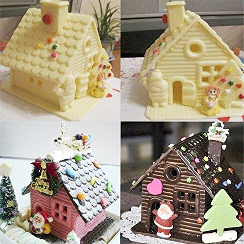 LYPULIGHT Torta di Natale Torta Stampo Fai da te Strumenti di Cottura Cioccolatini Caramelle Arredamento Forniture, in Silicone, Dimensioni: 27X19,5X0,5cm, Colore: Colore Trasparente
