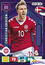 Christian Eriksen 2018 Panini Adrenalyn XL Road to Russia Purple Key Player Insert Card! Awesome Special Great Looking Card Imported from Europe! Shipped in Ultra Pro Top Loader to Protect it! WOWZZER