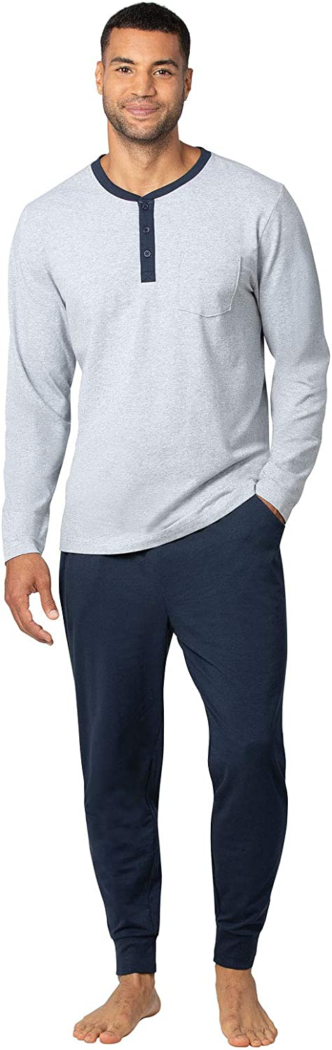 PajamaGram Mens Pajamas Soft Cotton - Set Max 67% OFF Ringer Pajama Sales of SALE items from new works for Tee