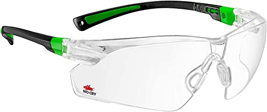 NoCry Safety Glasses with Clear Anti Fog Scratch Resistant Wrap-Around Lenses and No-Slip..