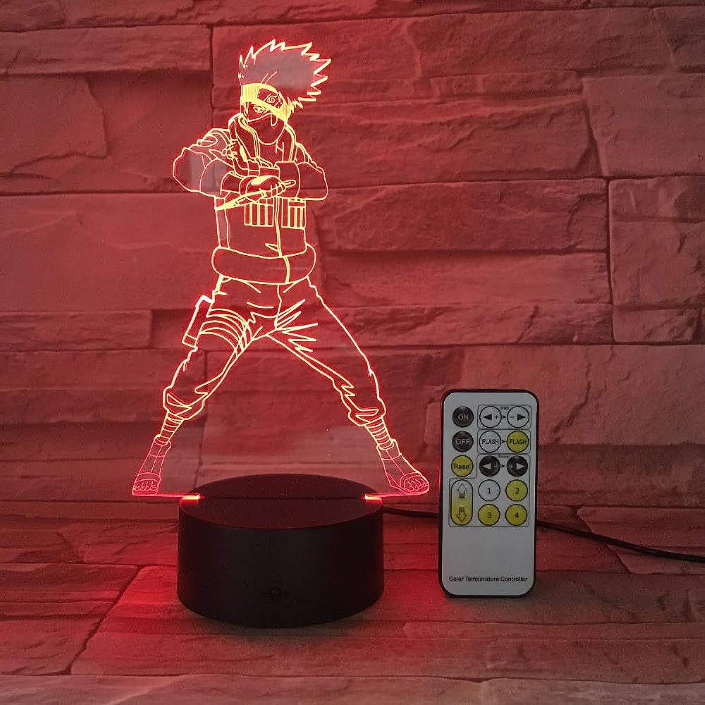 Dragon Ball 3D Usb Led Nachtlicht 7Farbes Illusion Lampe Touch Oder Fernbedienung Kinder Kinder Wohnzimmer Schlafzimmer Schreibtisch Beleuchtung
