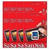 8pk SanDisk SDSDB-008G 8GB SDHC Class 4 SD Memory Card Moultrie A-20i A-20 M-888 Stealth Cam G45NG G42NG G42C G34 G30