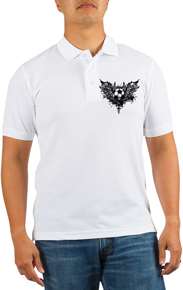 Our shop most popular Royal Lion Golf Shirt Soccer Ball Angel Futbol safety Wings