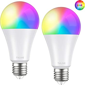Bombilla LED Inteligente WiFi, TVLIVE 2 Pack 10W E27 Bombilla LED ...