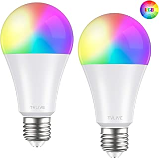 Bombilla LED Inteligente WiFi, TVLIVE 2 Pack 10W E27