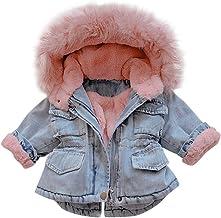 Kihatwin Unisex Toddler Girls Boys Flannel Full-Zip Fleece Faux Fur Jacket Lightweight Coats