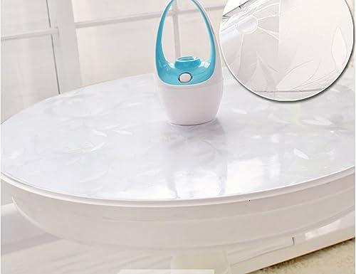 BSNOWF- Tischdecken Plastik Weißes Glas PVC Tischmatten Chrysantheme Kaffee Mats Wasserdicht    leicht zu säubern Tischdecke