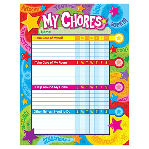Praise Words 'n Stars Success Charts (25 sheets) by TREND enterprises, Inc. - Help your child establish good habits for home and study