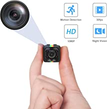 Small Security Camera, Nanny Cameras and Hidden Cameras, Spy Camera Wireless Hidden, Mini Spy Camera with Video and Motion Detection for Home Security