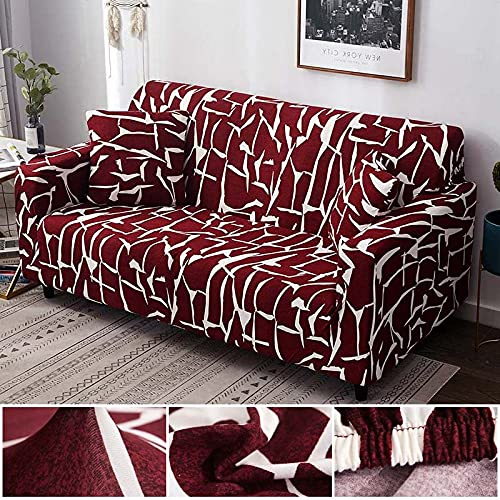 PPOS Juego de Fundas de sofá Funda de sofá elástica Fundas de sofá para Sala de Estar Mascotas Cubre sofá Funda de Almohada en Forma de L Funda de Almohada D7 4 Asientos 235-300cm-1pc