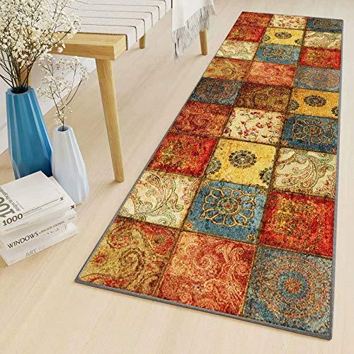 LYYK Alfombra Bano Moderna Lavables Antideslizante Baratas alfombras pasilleras para Sala de Estar Pasillo Cocina balcón 50x300cm ColorB