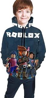 maichengxuan Sudadera con capucha para niños grandes Robl-Ox con estampado 3D, con capucha y bolsillo para niños y niñas
