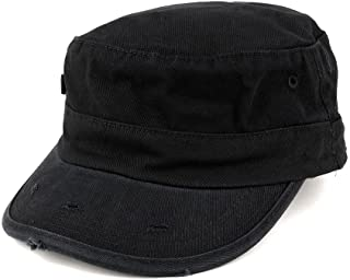 Washed Cotton Army BDU Style Fitted Military Cap