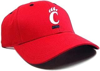 Captivating Headgear Red University of Cincinnati Bearcats Logo MVP Adjustable Curved Bill Hat