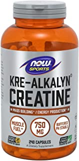Now Foods Kre-Alkalyn creatina 240 caps 240 Unidades 280 g