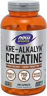NOW® Kre-Alkalyn® Creatine, 750 mg, 240 Capsules